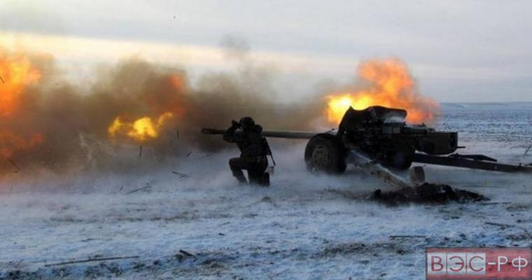 огонь на линии соприкосновения в Донбассе