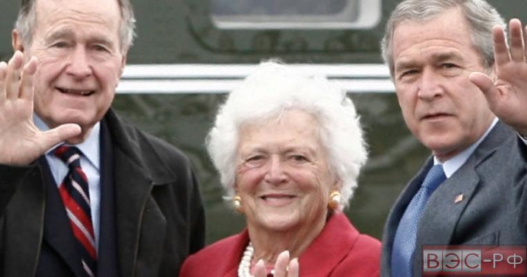 Барбара Буш с семьей