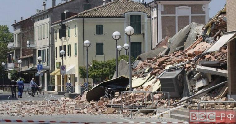 разрушения в Италии после землетрясения