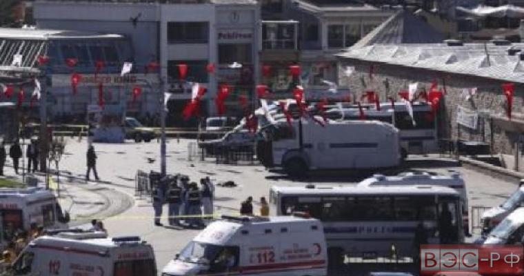 Место теракта в Стамбуле