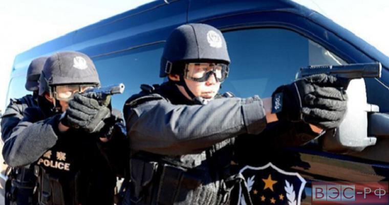 Полиция Китая ловит преступника