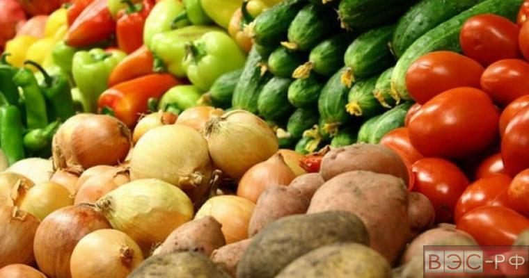 Овощи на продовольственном рынке
