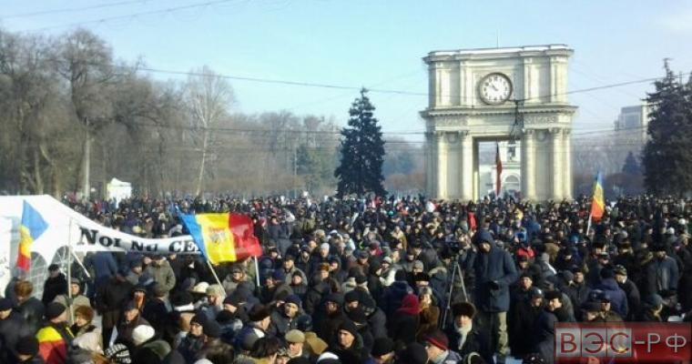 Акция протеста молдавских фермеров