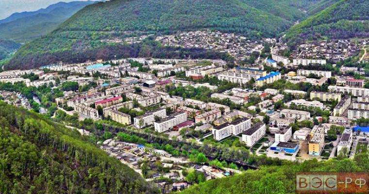 вид города Дальнегорск