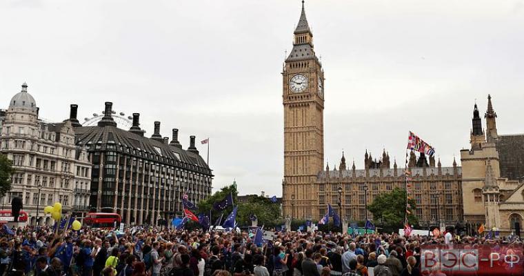 демонстрация против выхода из ЕС