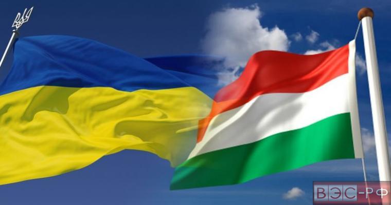 флаги Венгрии и Украны