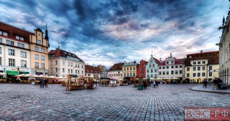 старинный город в Эстонии