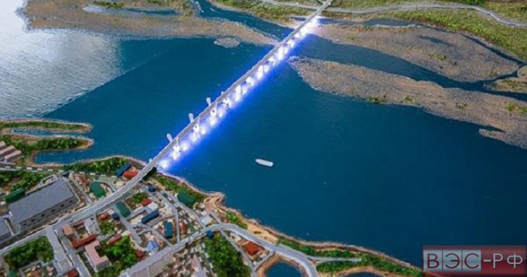 Строительство моста на Амуре