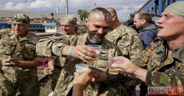 алкоголизм ВСУ в зоне АТО