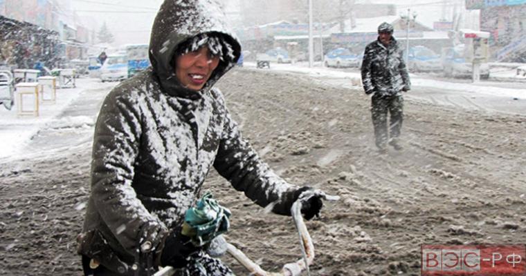 морозный циклон в Китае